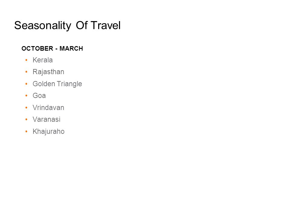 Seasonality Of Travel Kerala Rajasthan Golden Triangle Goa Vrindavan