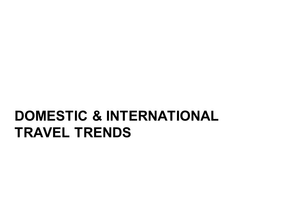 DOMESTIC & INTERNATIONAL TRAVEL TRENDS