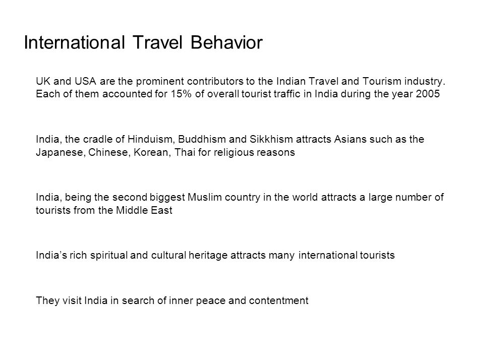 International Travel Behavior