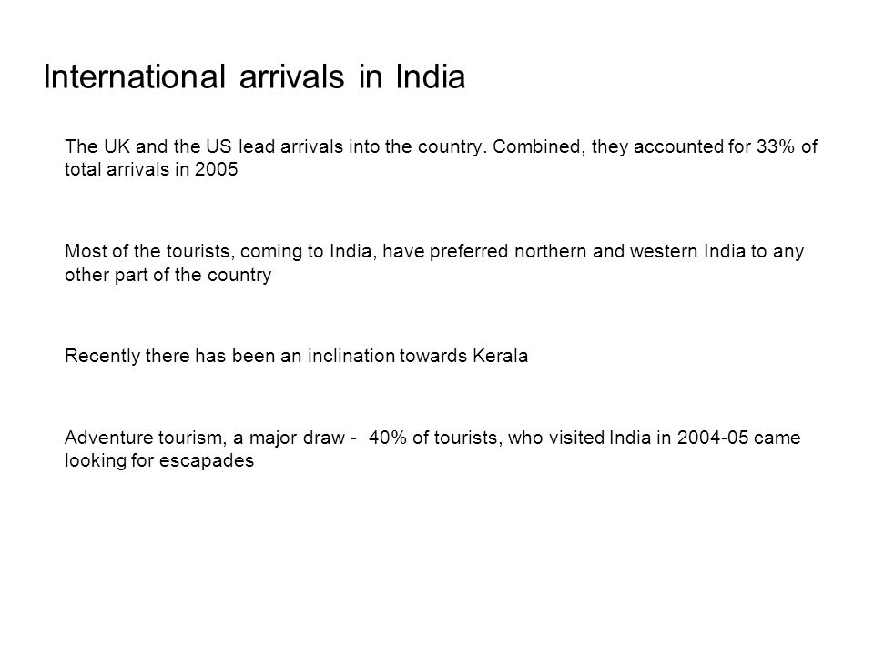 International arrivals in India