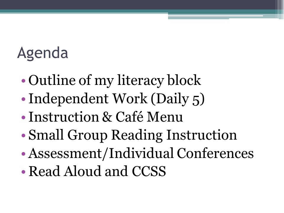 Simplify Your Reading Block - Ppt Download