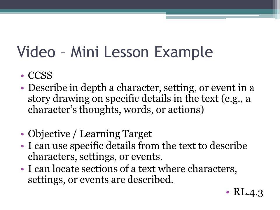 mini lesson template