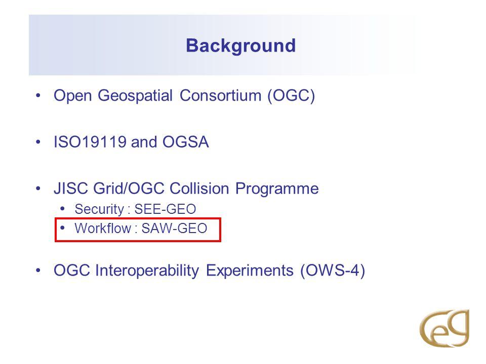 Background Open Geospatial Consortium (OGC) ISO19119 and OGSA