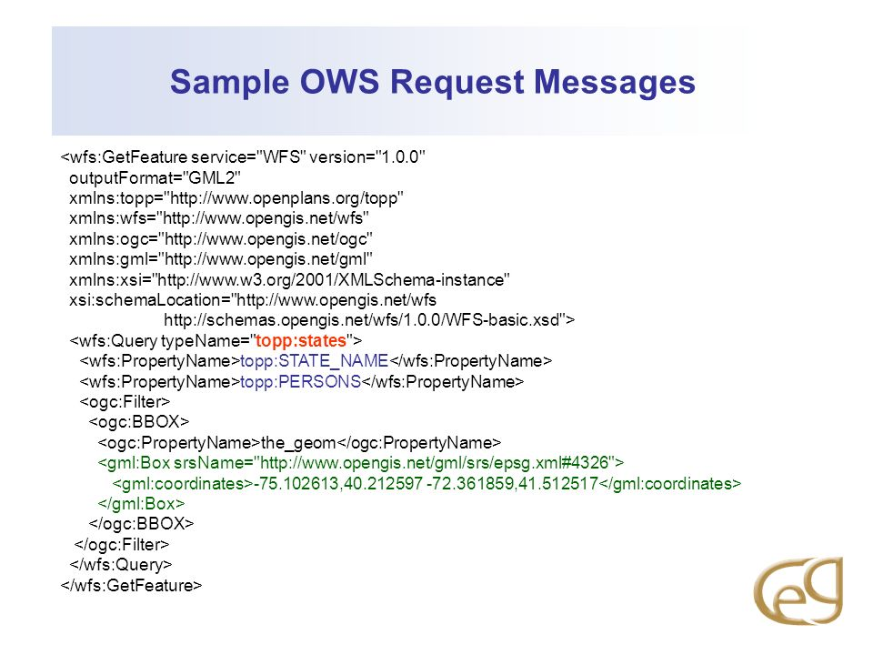 Sample OWS Request Messages