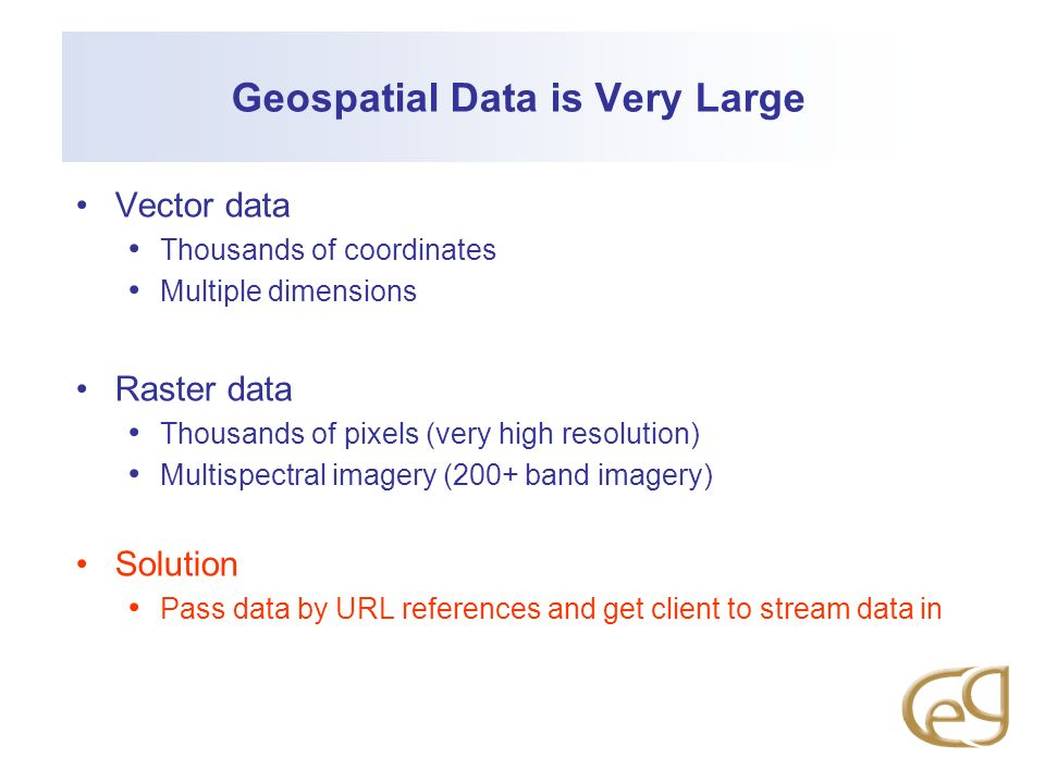 Geospatial Data is Very Large