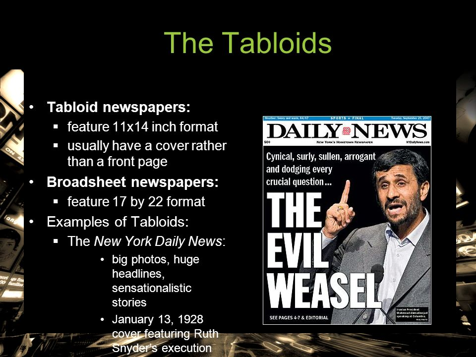 Broadsheets vs. Tabloids | thenewchapterbegins