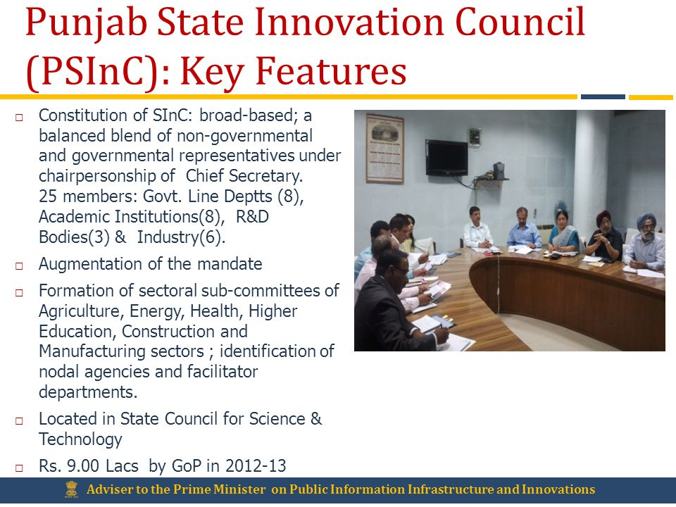 Punjab State Innovation Council (PSInC): Key Features