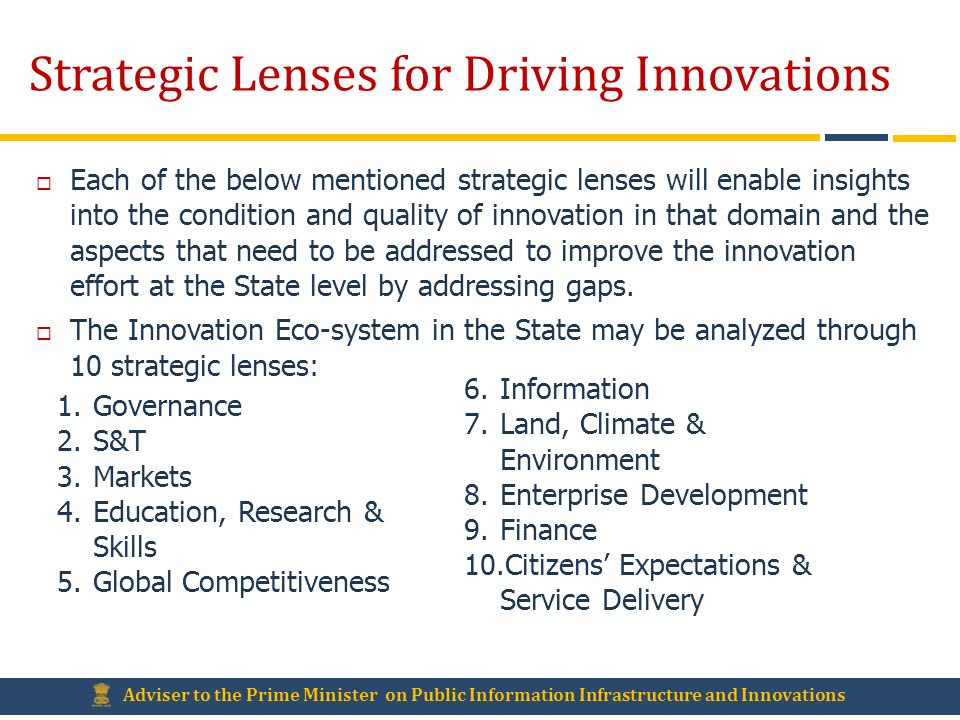 Strategic Lenses for Driving Innovations