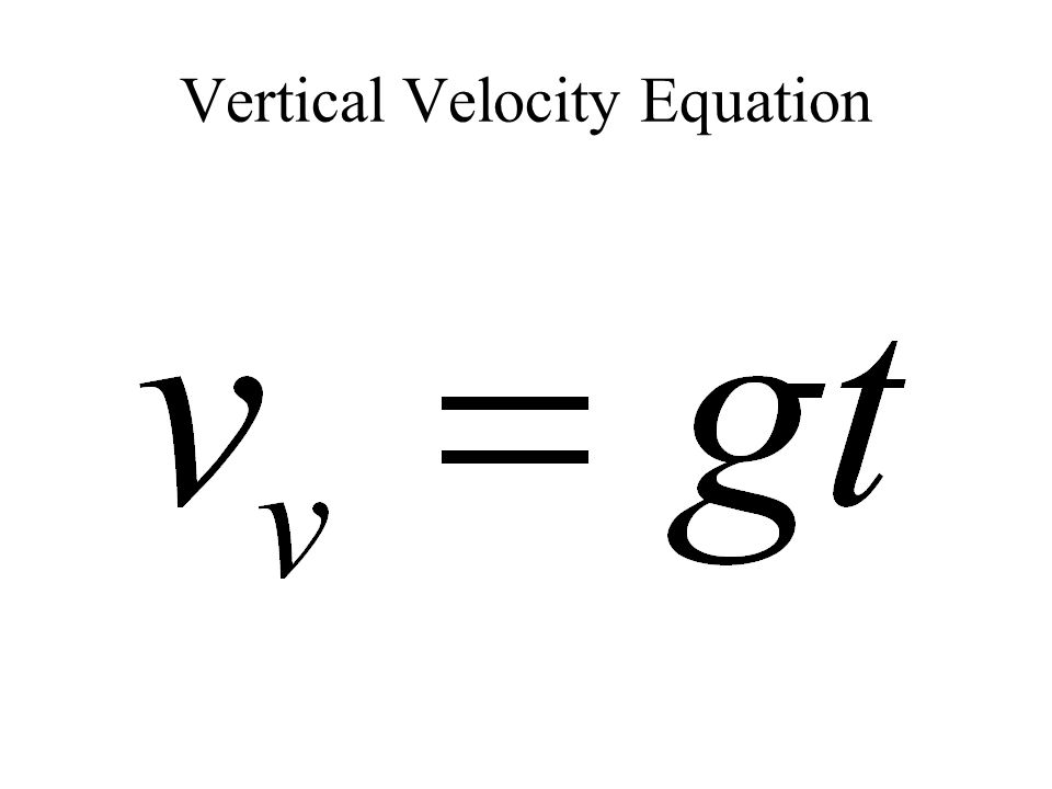Vertical Velocity Equation