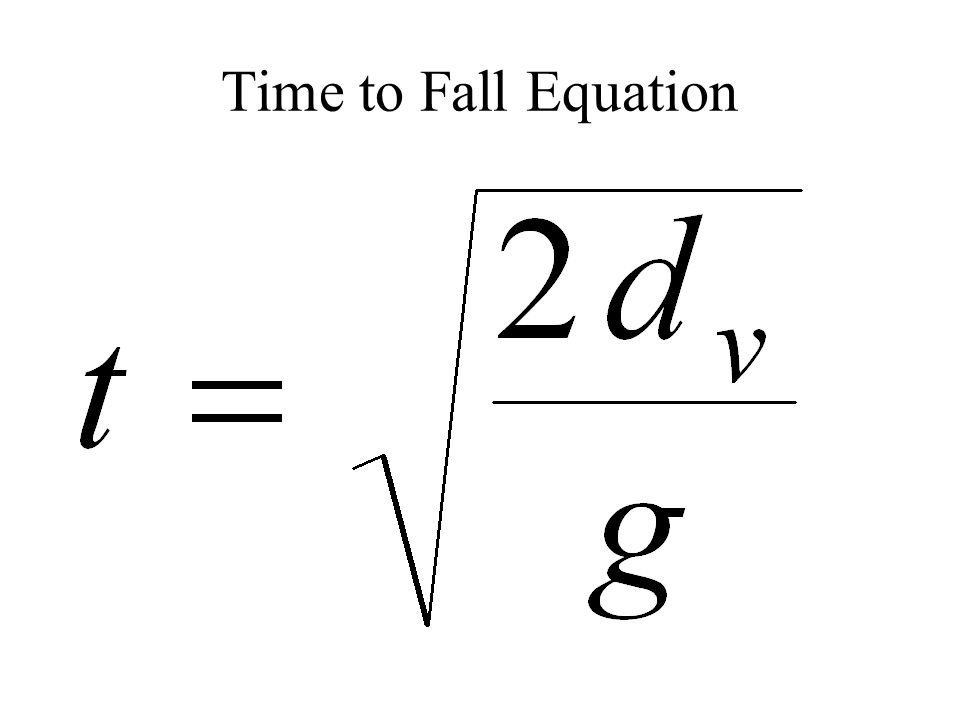 Time to Fall Equation