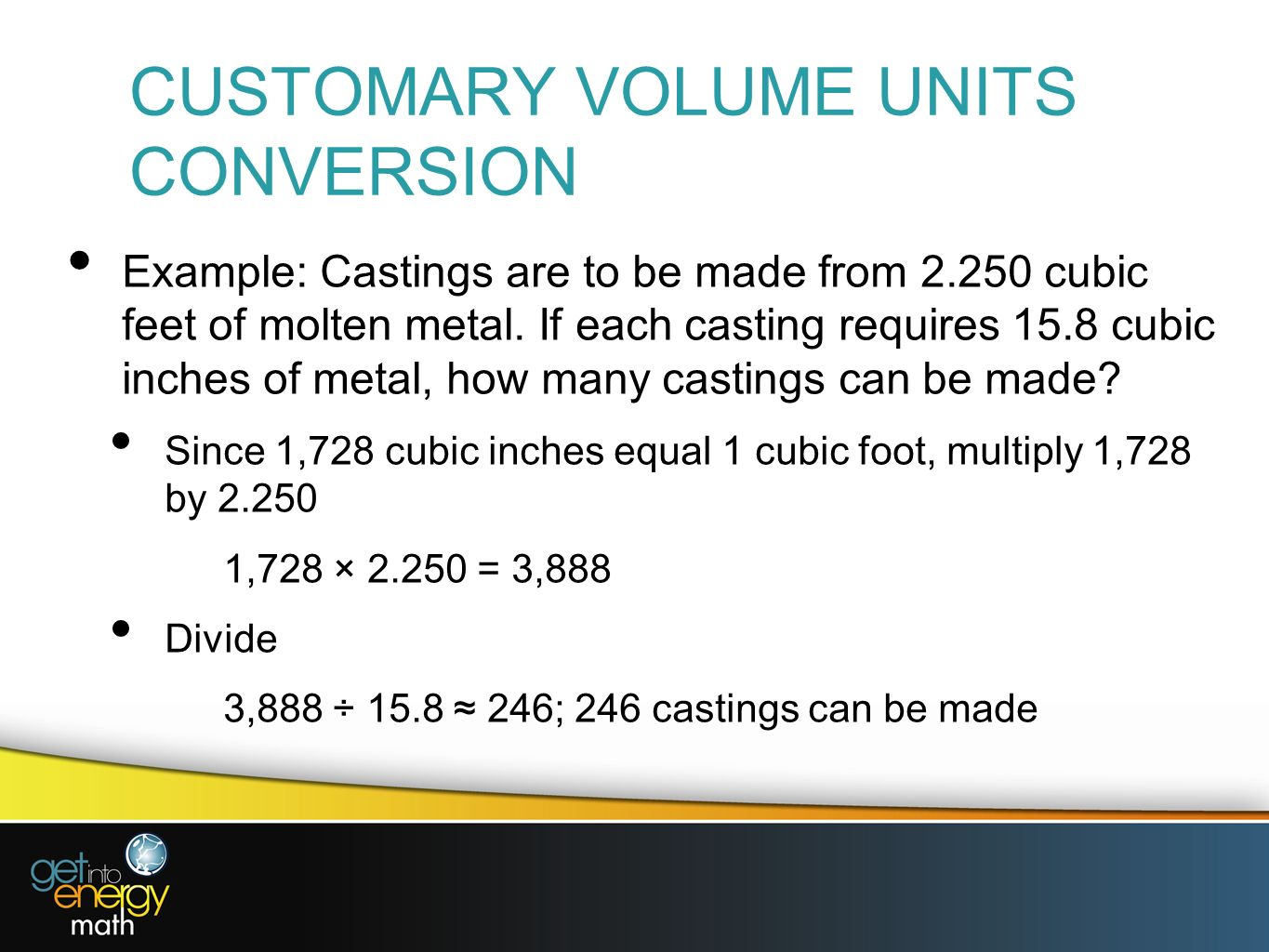 12 Customary Volume Units Conversion Download Image How To Calculate Cubic