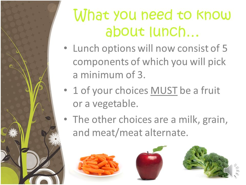 What you need to know about lunch…