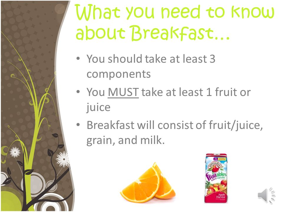What you need to know about Breakfast…