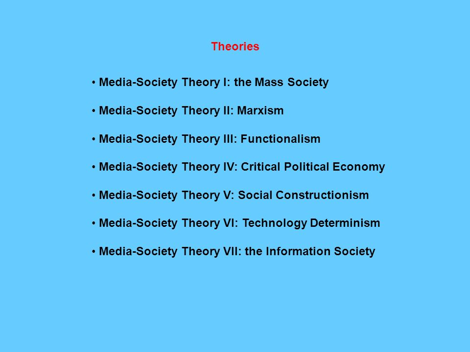 mass media in society My name is claire and this is my video answering the question, how does mass media influence society.