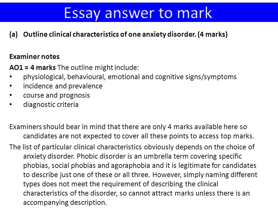 Anxiety Disorders Essay