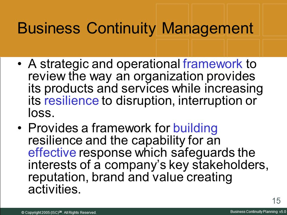 Business Continuity Plan - ShoreBridge Capital Partners