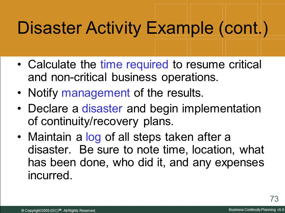 Business Continuity Planning - Ppt Download