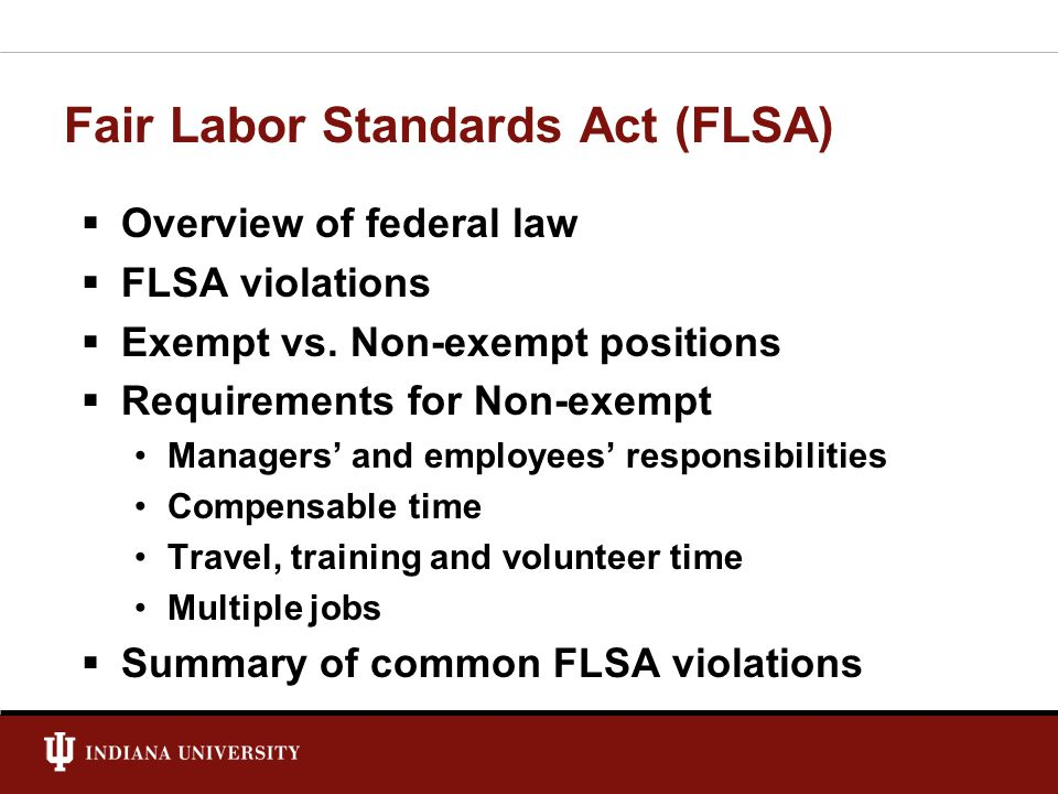 labor standards act Frequently asked questions about the 2016 changes to the fair labor standards act 1 what is the fair labor standards act 2 what is the difference between exempt and nonexempt employees under the flsa.