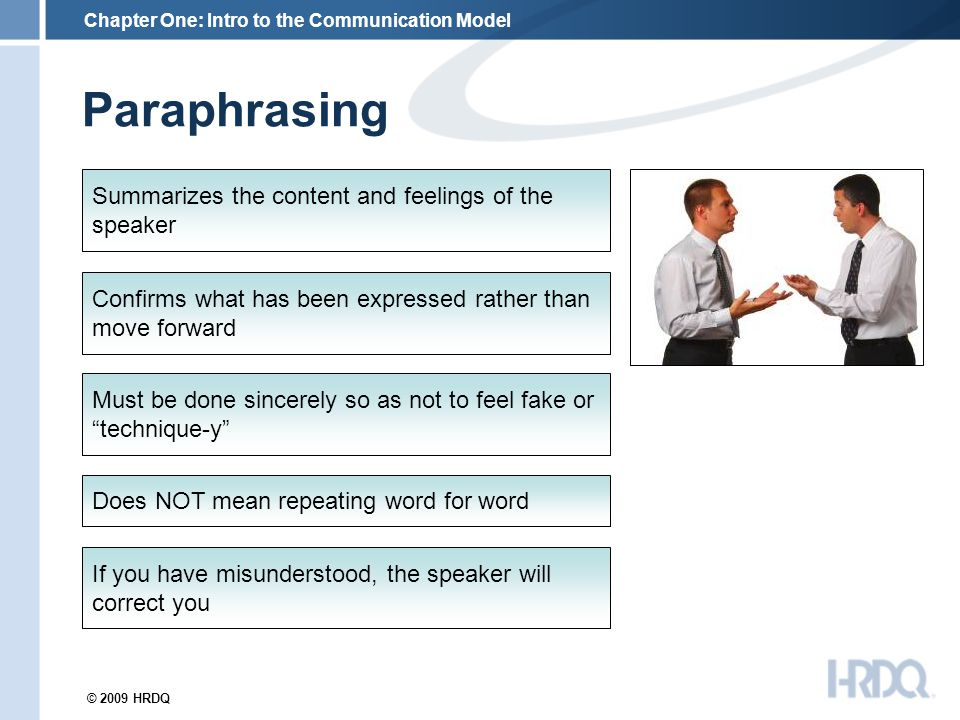 Paraphrasing communication examples