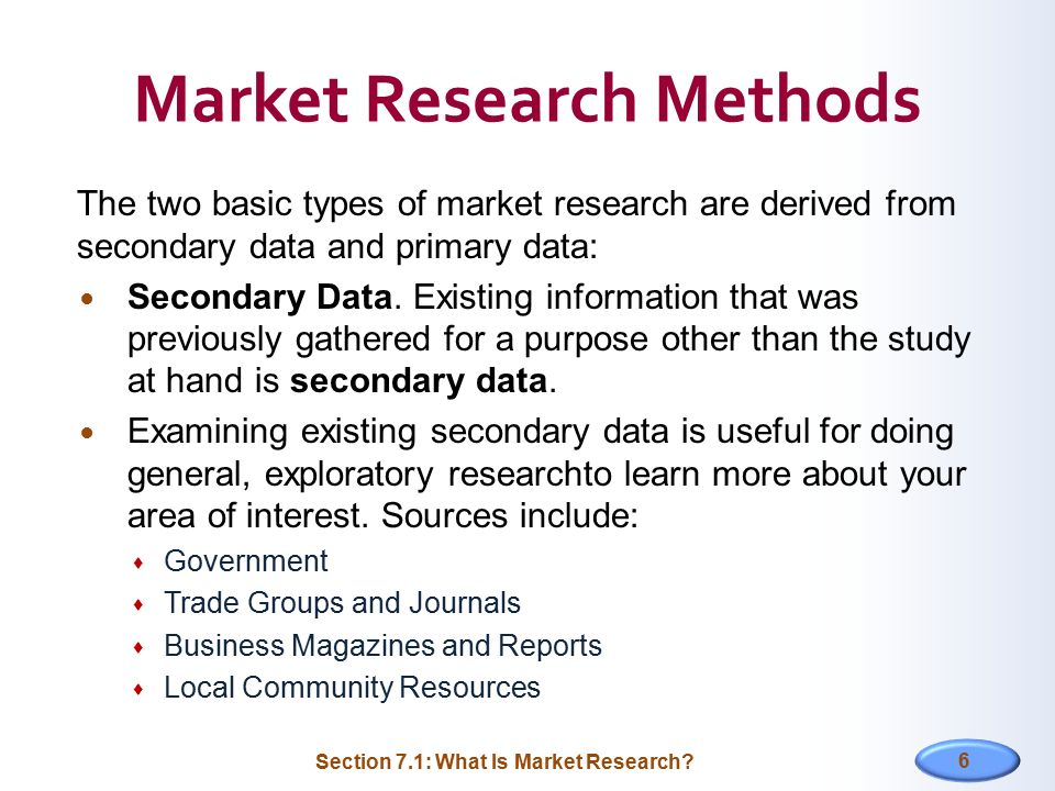 what is secondary data in marketing research