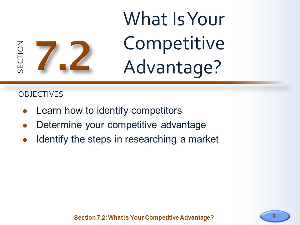 What Is Your Competitive Advantage