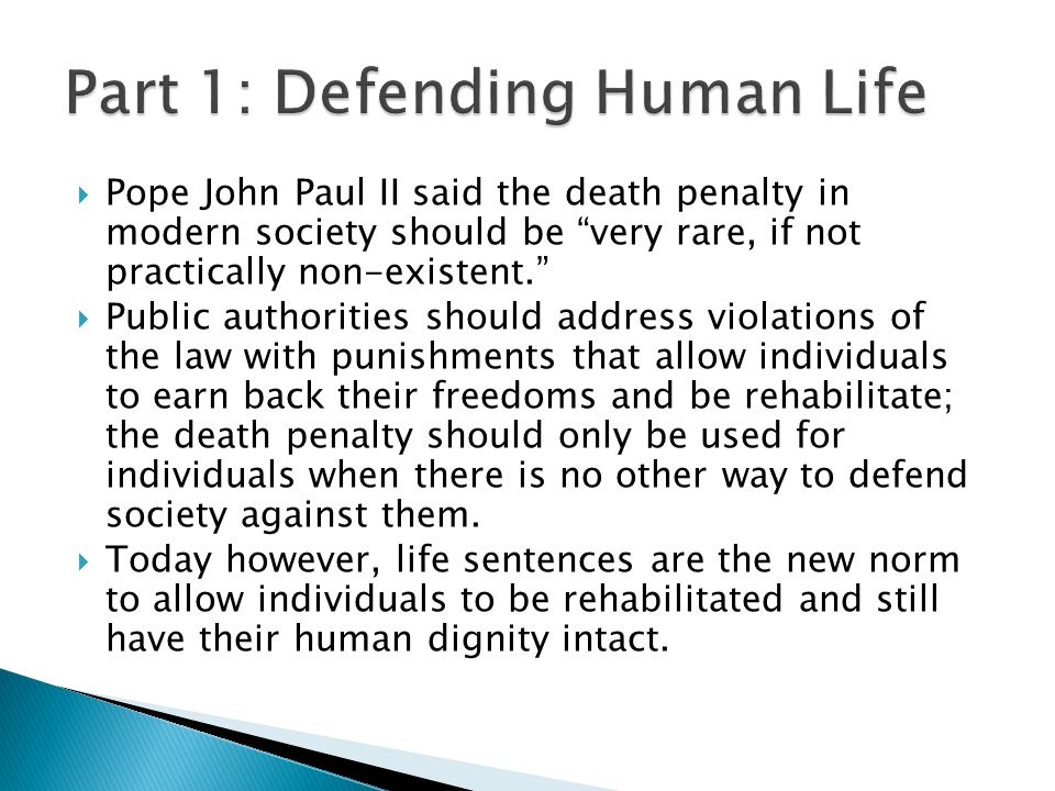 defending the death penalty Excerpt: the allegedly moral objections to capital punishment are a product of modern amoral political philosophy, from which has derived the modern reluctance to exact retribution.