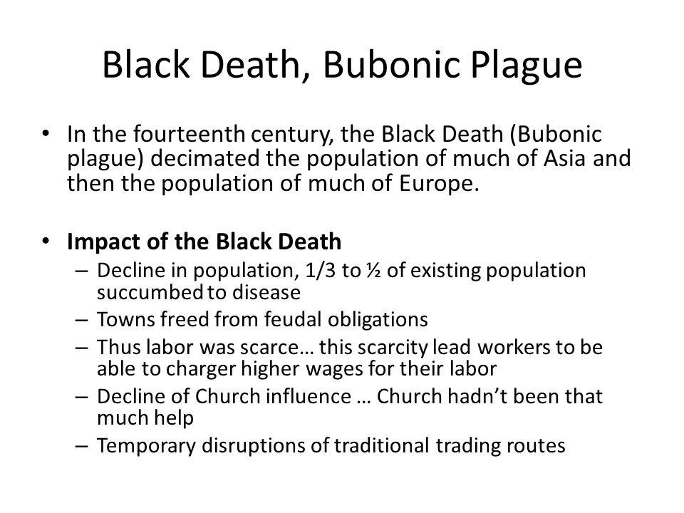 Black Death, Bubonic Plague
