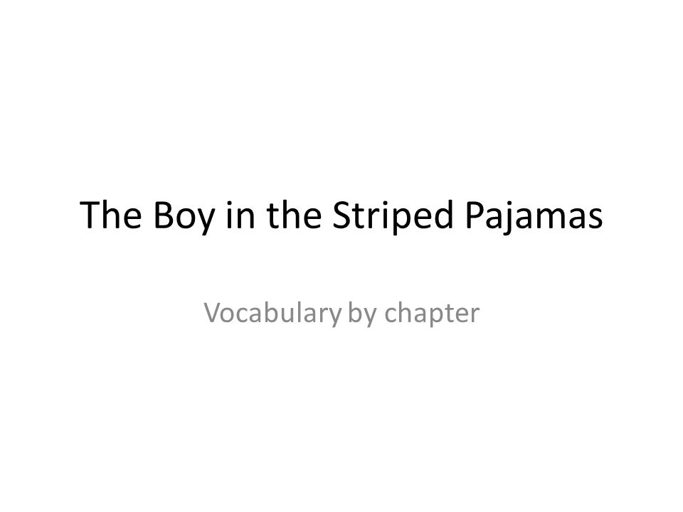 the boy in the striped pajamas ppt  the boy in the striped pajamas