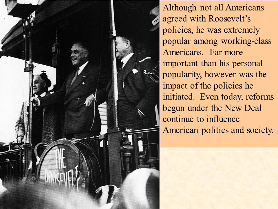 the new deal s impact on americans The great depression and the new deal  impact of the great depression  time for most african americans the black american's economic struggles sparked.