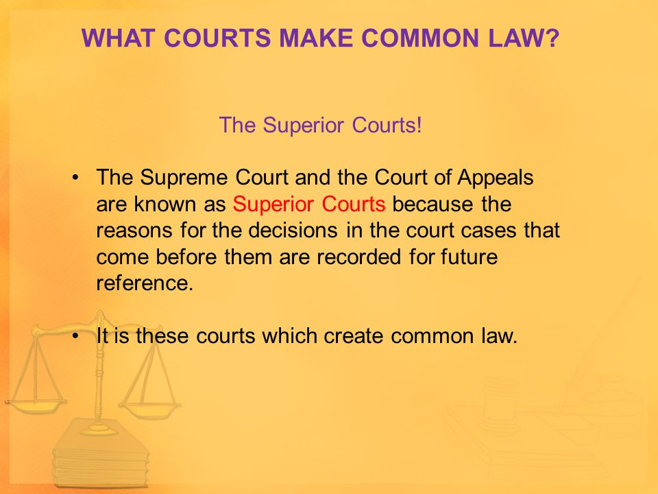 WHAT COURTS MAKE COMMON LAW