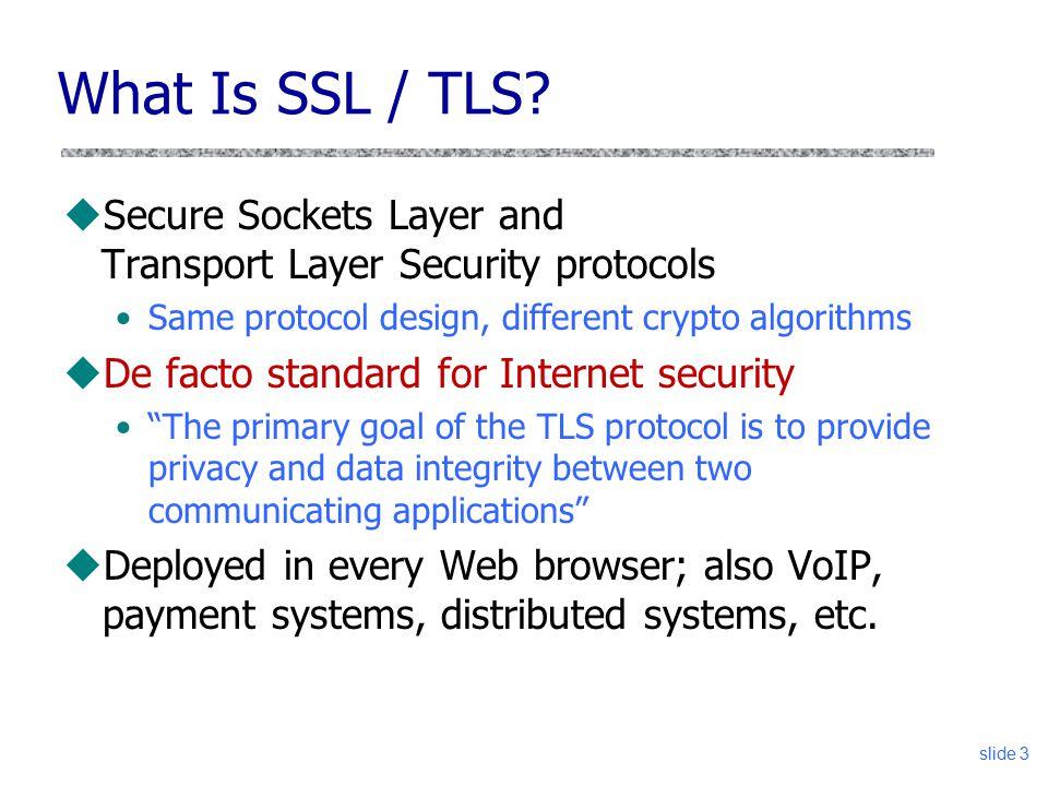 CS 361S SSL/TLS Vitaly Shmatikov.