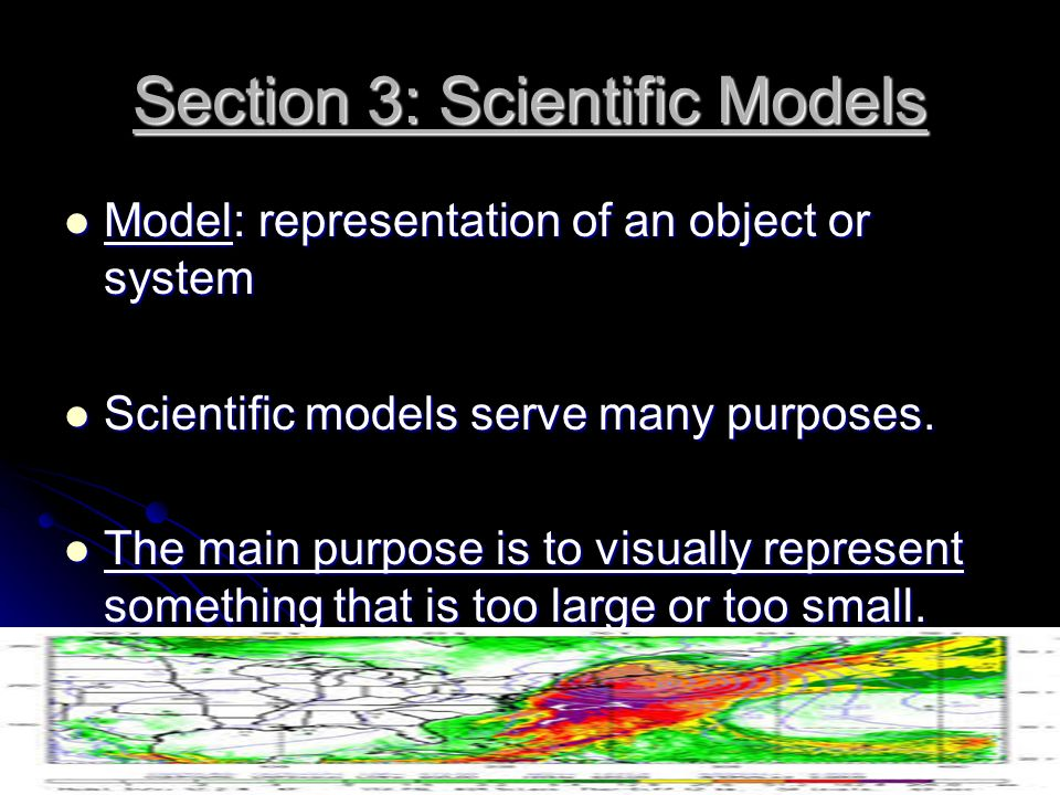 Section 3: Scientific Models