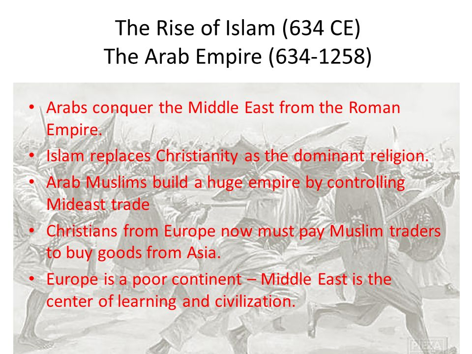 islam rise and fall Comparing the rise of islam to the rise of christianity it is tempting to compare the astounding spread of christianity with that of islam.