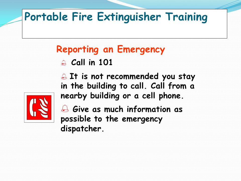 how to build fire extinguisher training