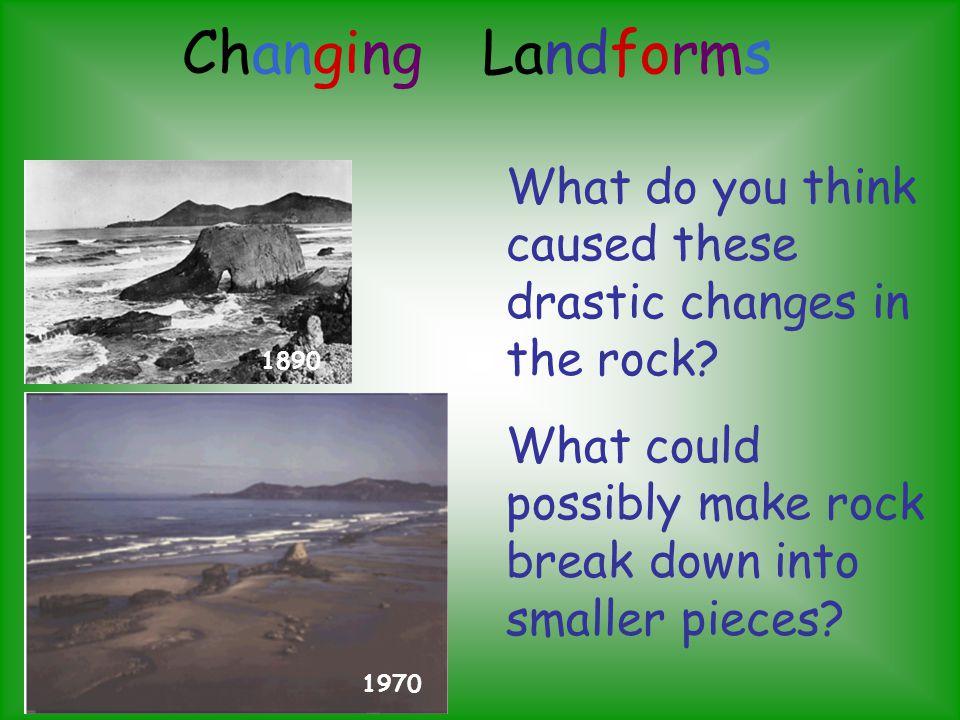 Changing Landforms 3 7b 4 7b 5 7b Ppt Download