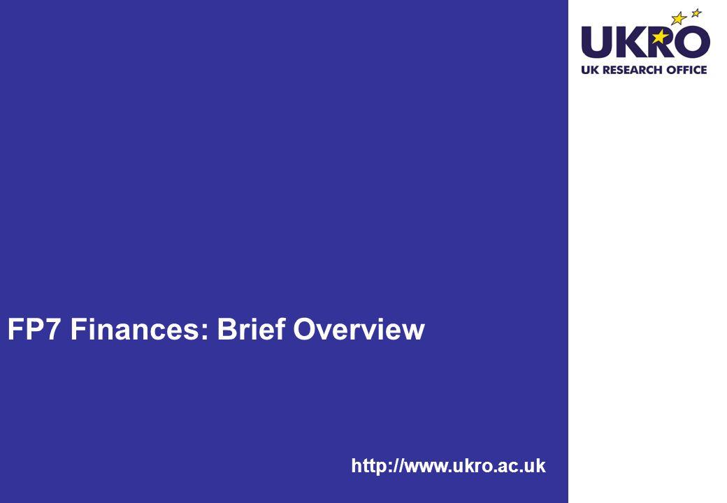 FP7 Finances: Brief Overview