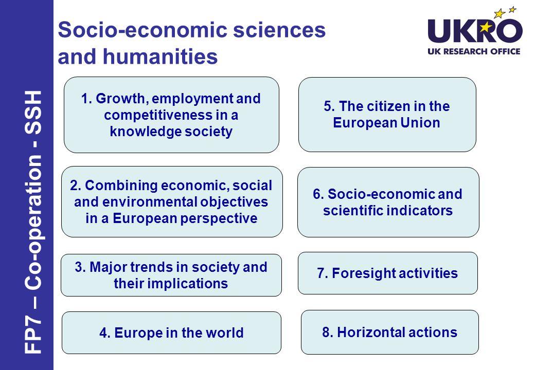 Socio-economic sciences and humanities