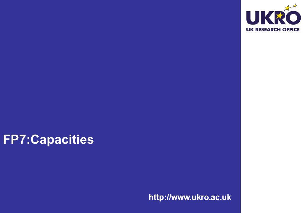 FP7:Capacities http://www.ukro.ac.uk