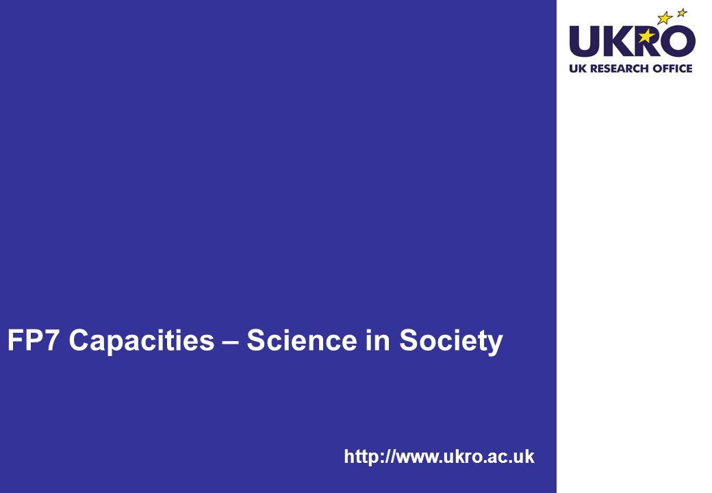 FP7 Capacities – Science in Society