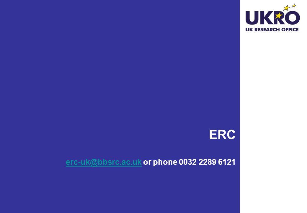 ERC erc-uk@bbsrc.ac.uk or phone 0032 2289 6121