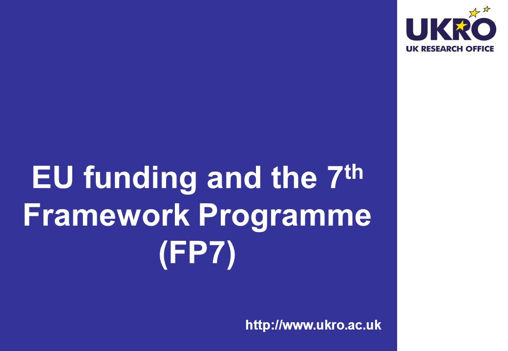EU funding and the 7th Framework Programme (FP7)