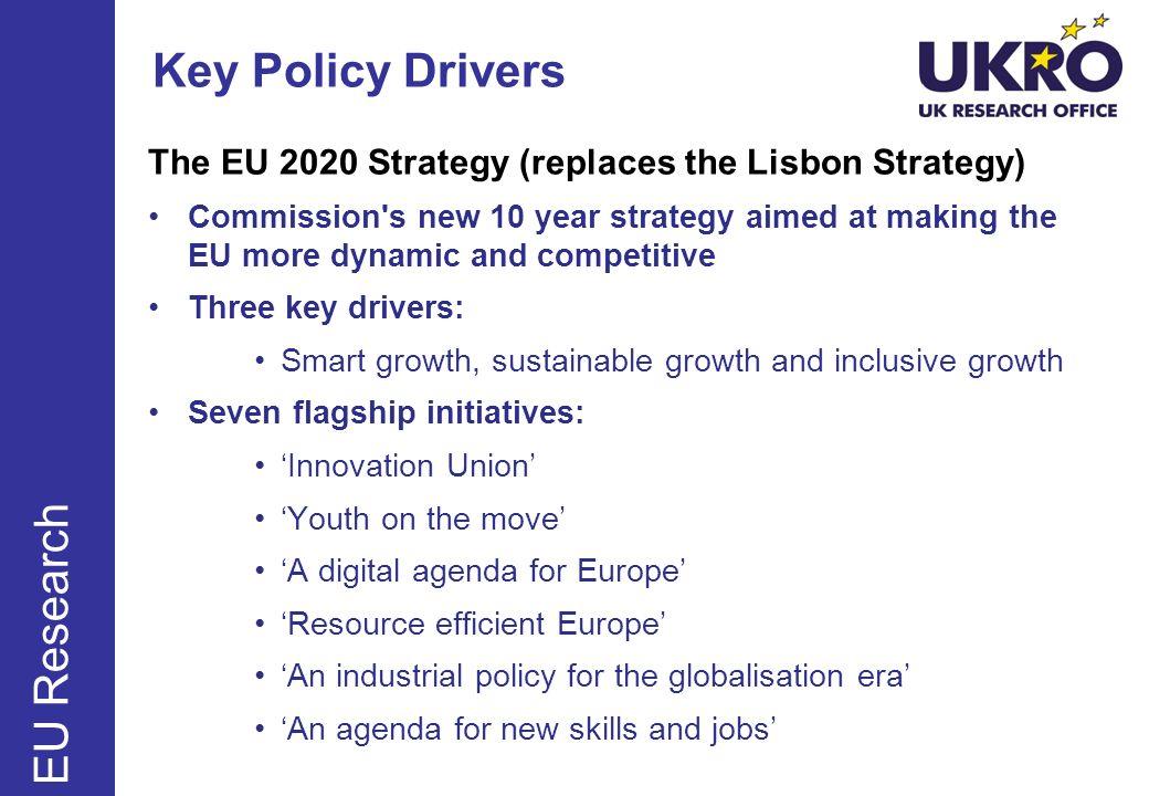 Key Policy Drivers EU Research