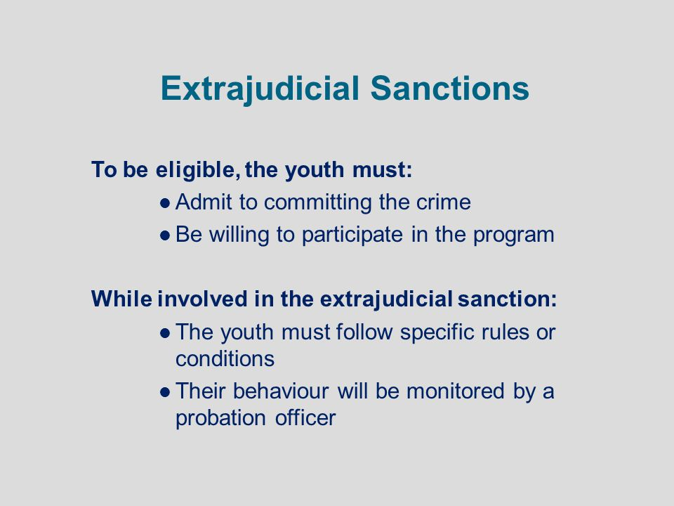 Extrajudicial Sanctions