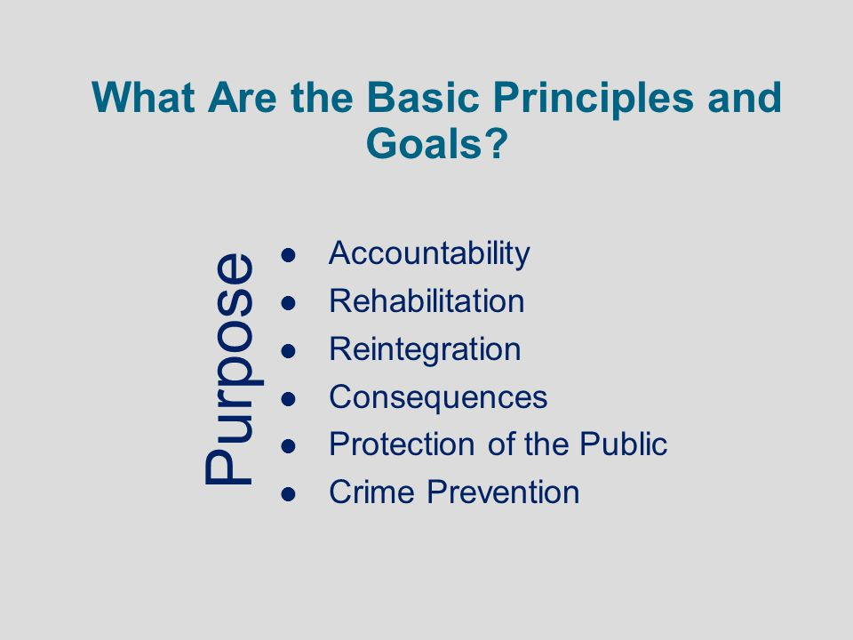 What Are the Basic Principles and Goals