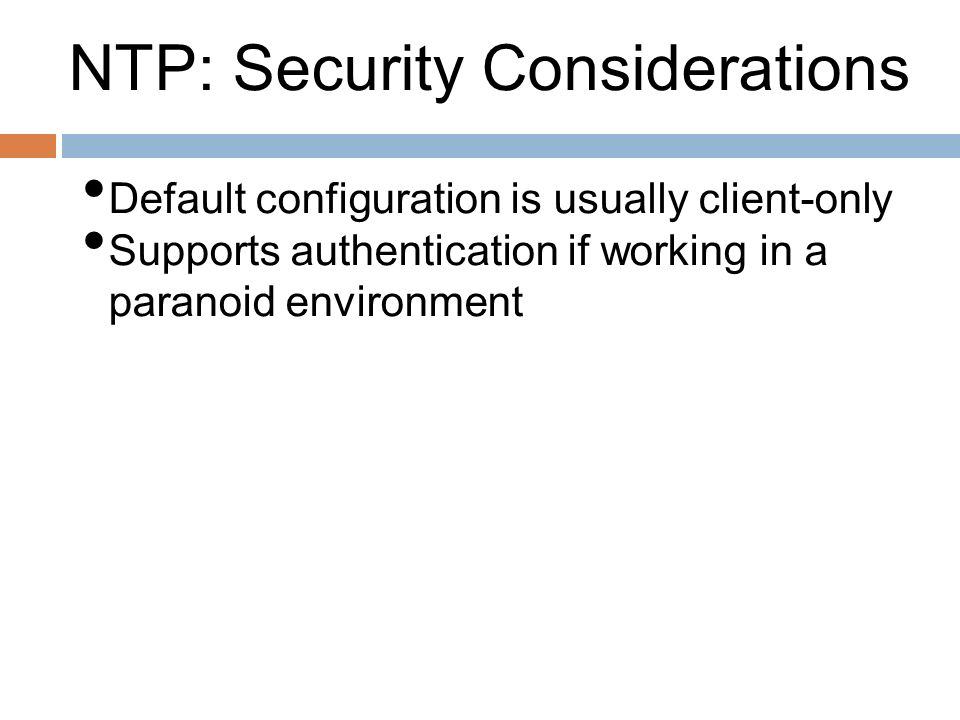 NTP: Security Considerations