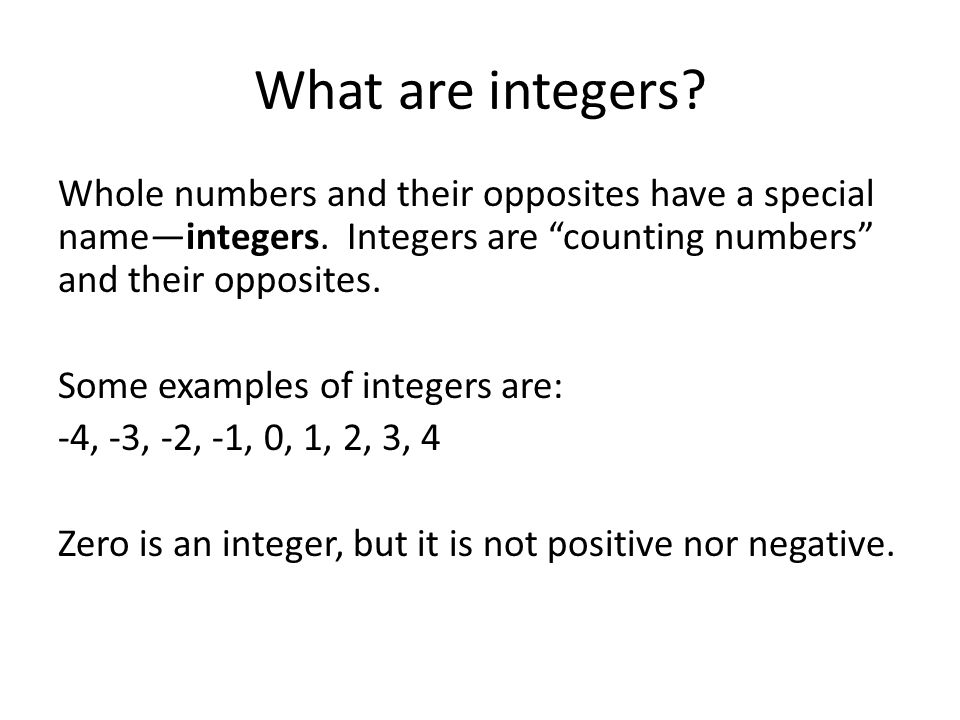 integers and question number The number of possible four-digit numbers with four different digits is simply 4  4  4  4 = 256  example question #1 : consecutive integers quantity a: the sum of all integers from 49 to 98 inclusive  you might know that the average of a set of consecutive integers is.