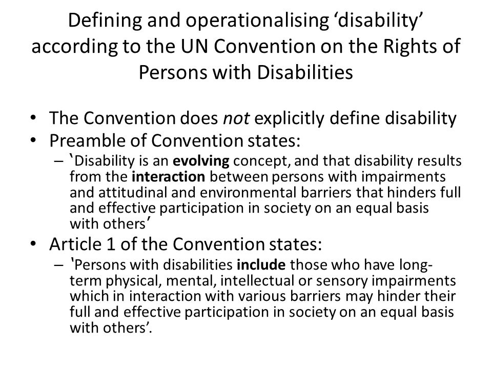"""convention of the rights of persons with disabilities politics essay October 2013 1 the convention on the rights of persons with disabilities includes the controversial term """"sexual and reproductive health"""" this is the first time the term occurs in binding."""