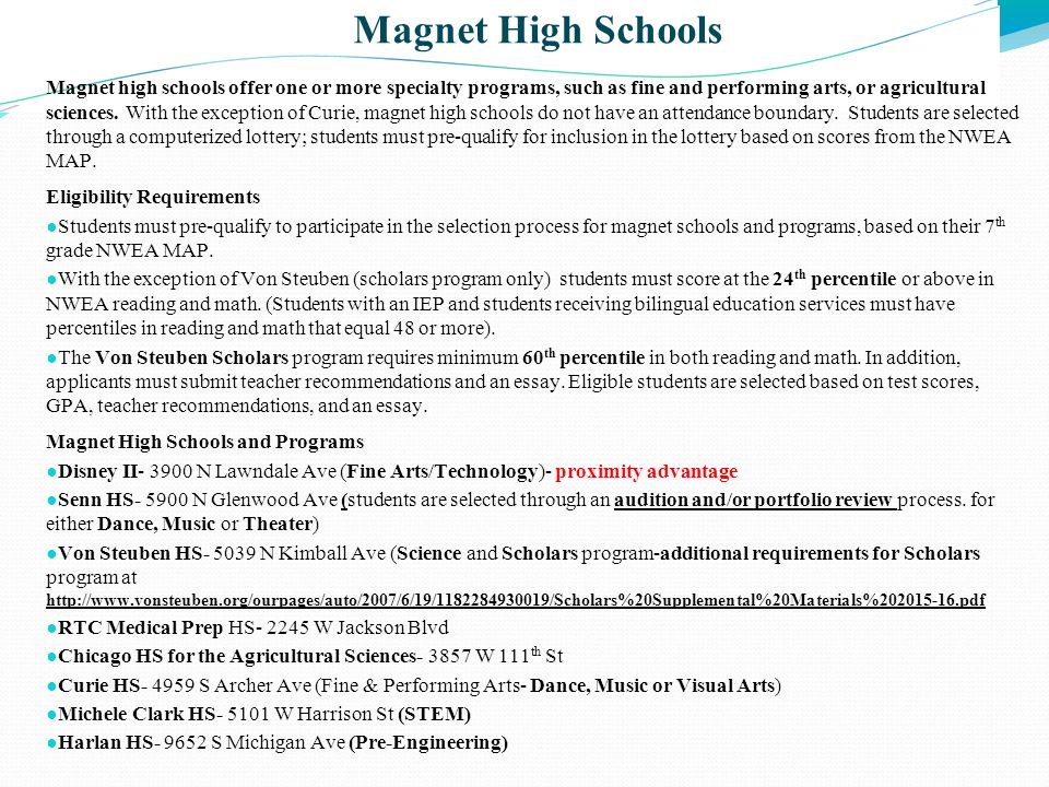 Magnet High Schools