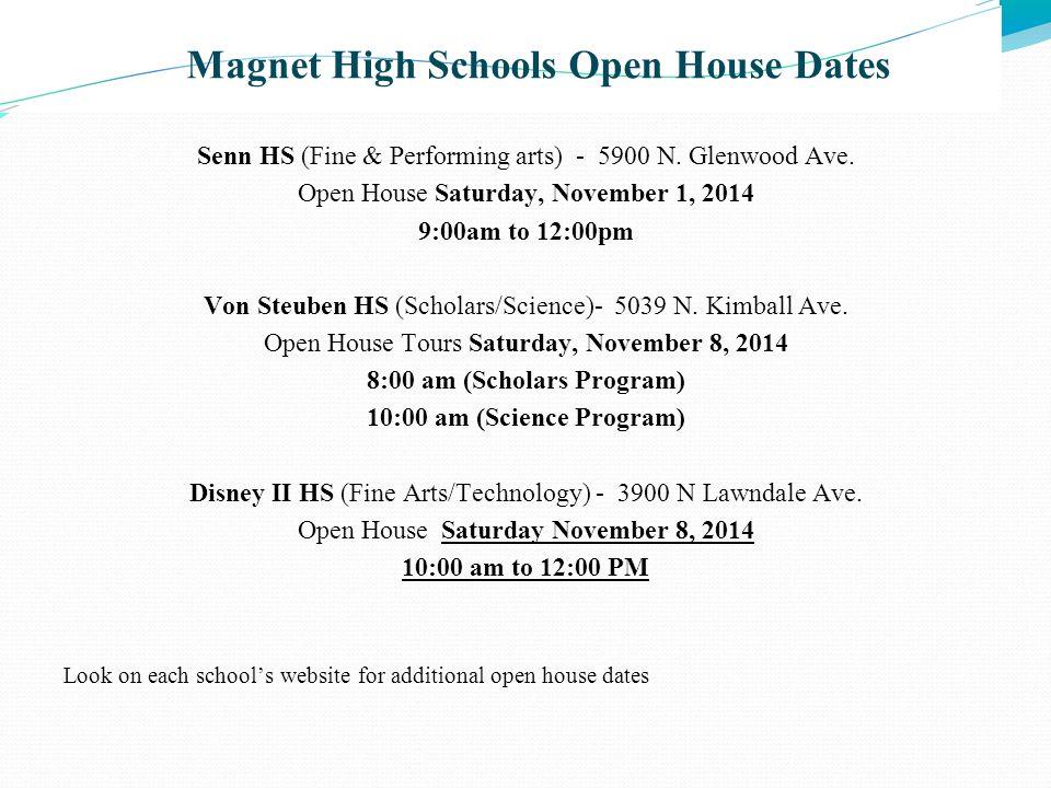 Magnet High Schools Open House Dates