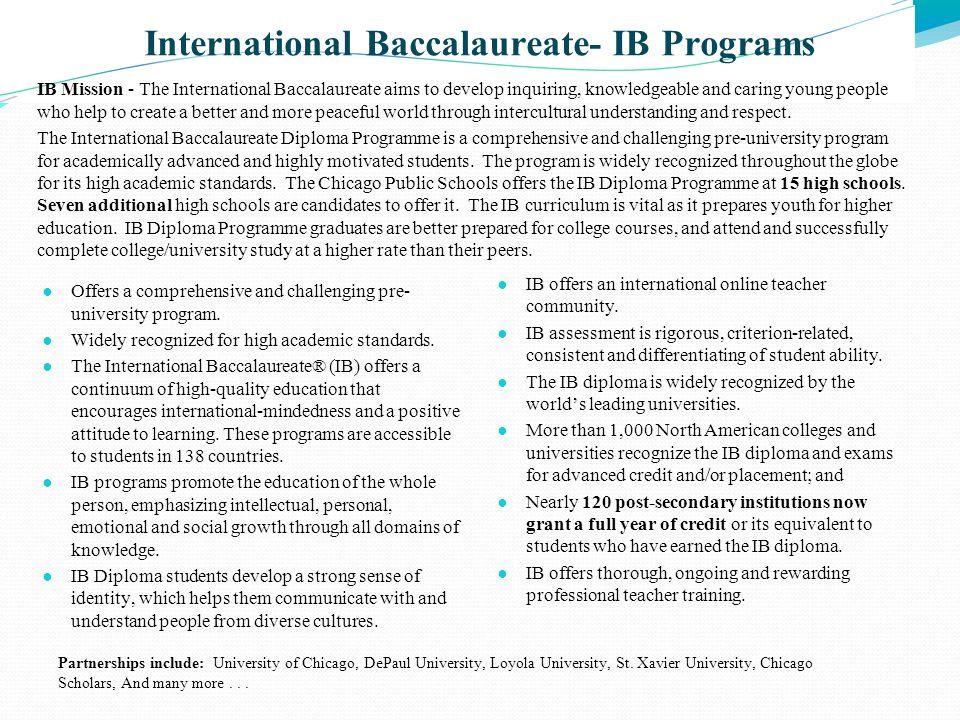 International Baccalaureate- IB Programs